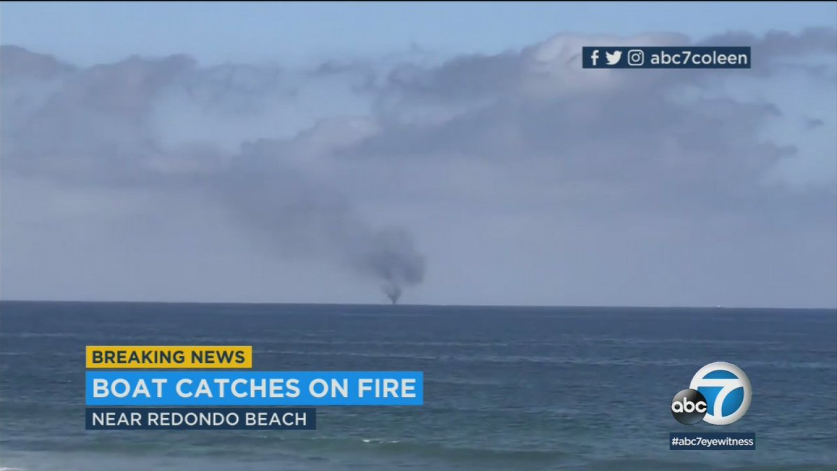 2 people rescued from boat fire off coast of Redondo Beach https://t.co/8q3V2W80vN