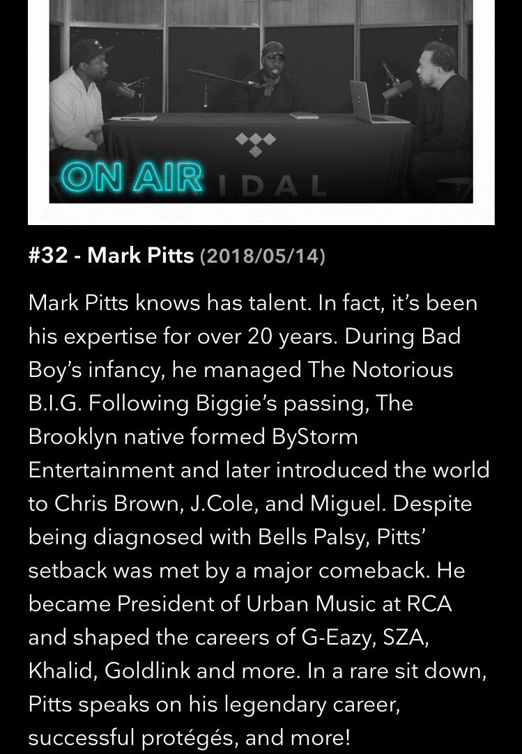 very rare. today on the #RapRadarPodcast it's @iammarkpitts! @tidal https://t.co/Ygoy4Z52yR https://t.co/vUadFTq6jf