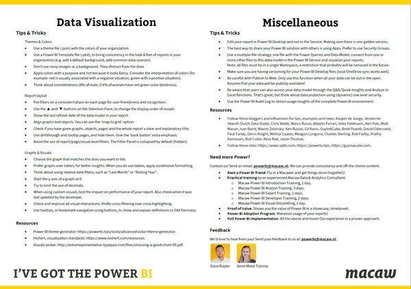 Dave Ruijter On Twitter I Ve Created A Powerbi Cheat Sheet