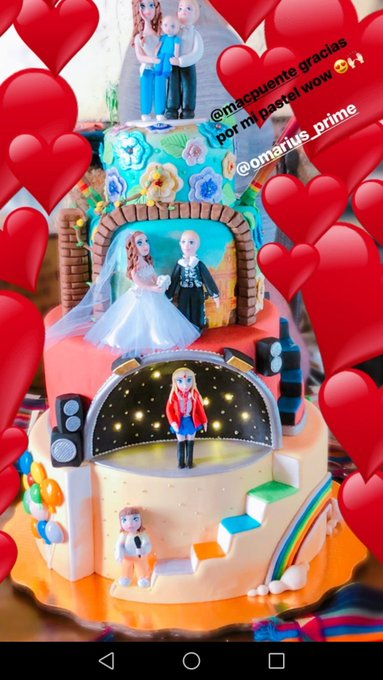 Anahi\s birthday cake ! Omg I\m emontional ! happy bday princess!