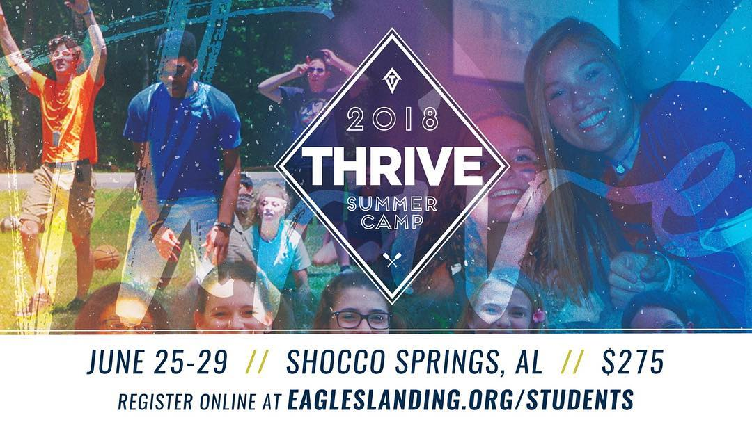 Thrive Camp is coming soon! Sign up today: eagleslanding.brushfire.com/students/441823 ☀️