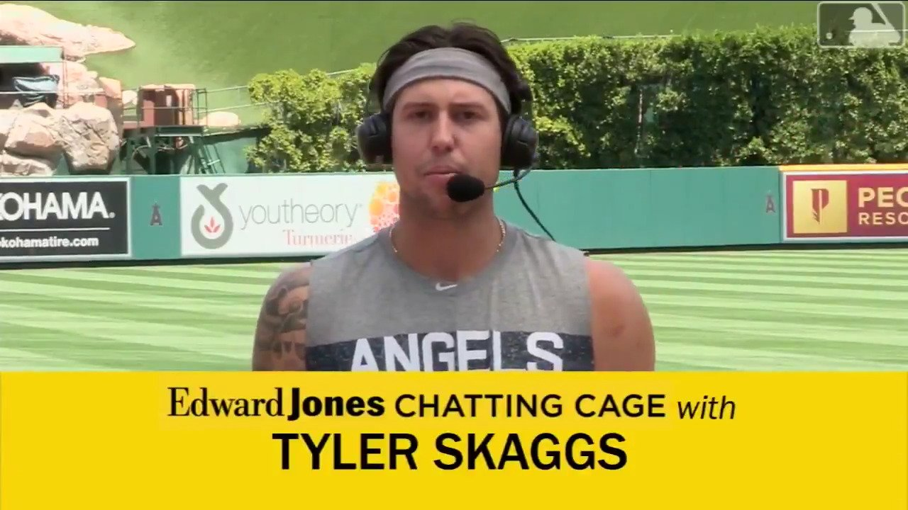 .@TylerSkaggs37 talks about playing for Mike Scioscia in the @EdwardJones #ChattingCage. https://t.co/ve6G1ygbTW https://t.co/QV5Q5FvBr4