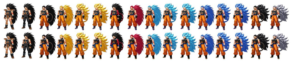 Reattempt of my Raditz sprites based on @MasakoX's What if Raditz Turned Good Saga  All criticism would be greatly appreciated, I am simply an amateur and I want to do everything I can to improve. #whatifweek