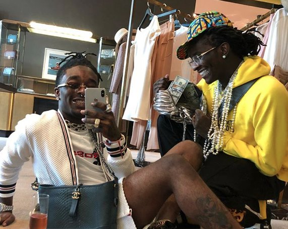 Lil Uzi Vert hints at 1500 unreleased songs with Young Thug. https://t.co/PLasCm6LqT https://t.co/vXxoWFrc2o
