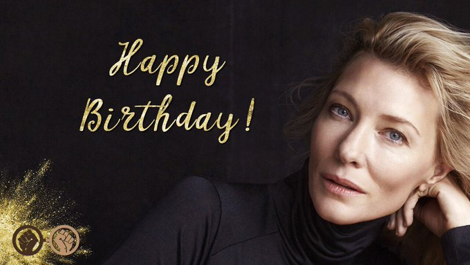 Wishing the wonderful Cate Blanchett a very happy birthday! The talented actress turns 49 today!