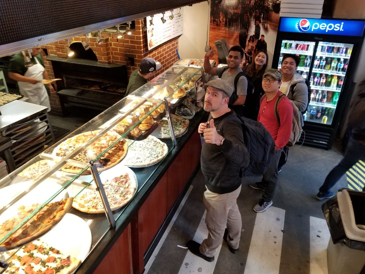 When you are in NY, you must have a slice of #pizza #teamMEW #Consensus18 #NYC