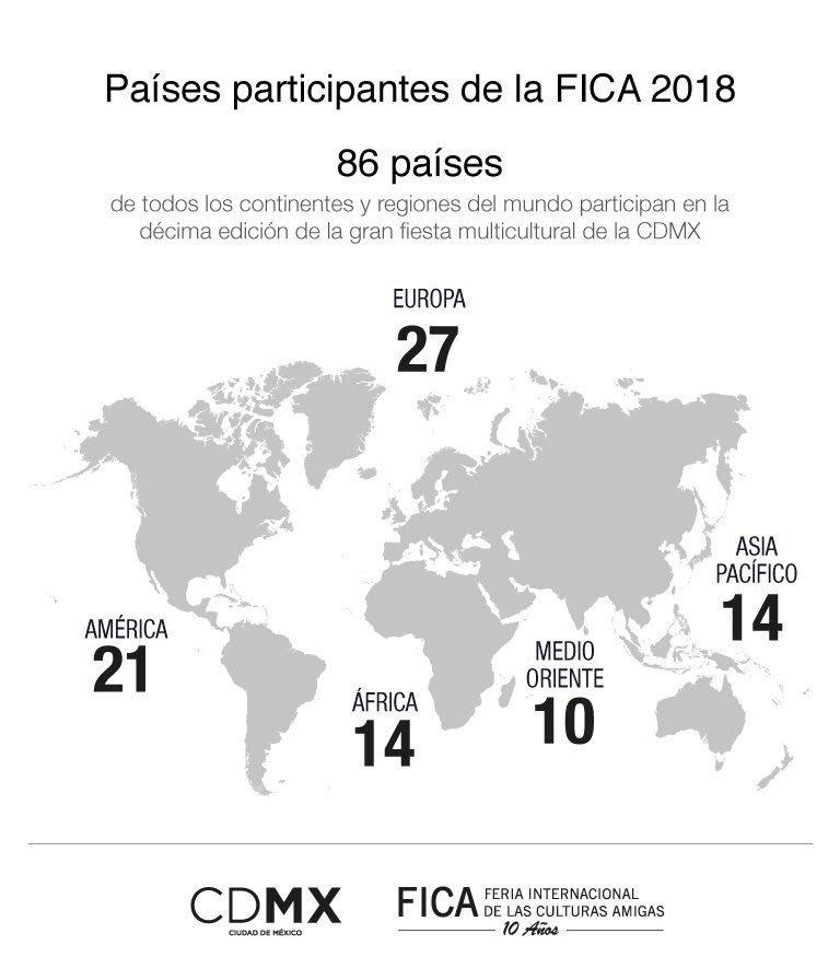ee0991224  RecuentoFICA2018 Este año contamos con 86 Representaciones Diplomáticas  originarias de los cinco continentes