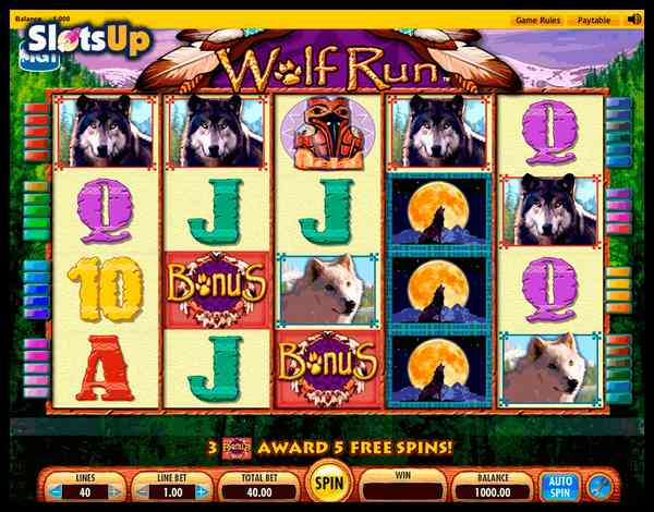 free wolf run slots