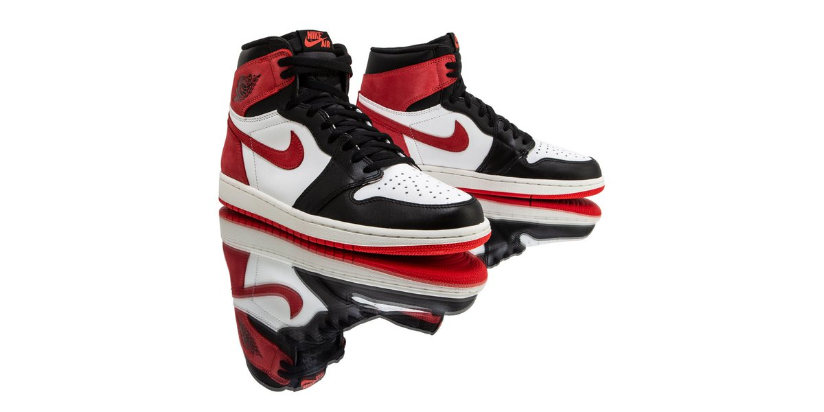 5dbd8ce27676 ... on a Black-Toe treated upper. These AJ1 serve as a nod to Jordan s 6  Championship rings won in a Bulls uniform. Find them here   http   bit.ly 2GeNd5T ...