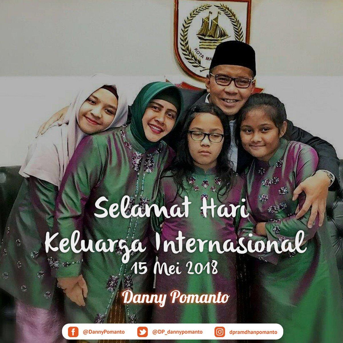 Selamat Hari Keluarga Internasional untuk seluruh keluarga yang ada di Indonesia. Keluarga adalah penyemangat hidup yang selalu memberikan dukungan kepada saya. Keluarga memang harta yang paling berharga.  @DP_dannypomanto https://t.co/0yh7yzj6oy