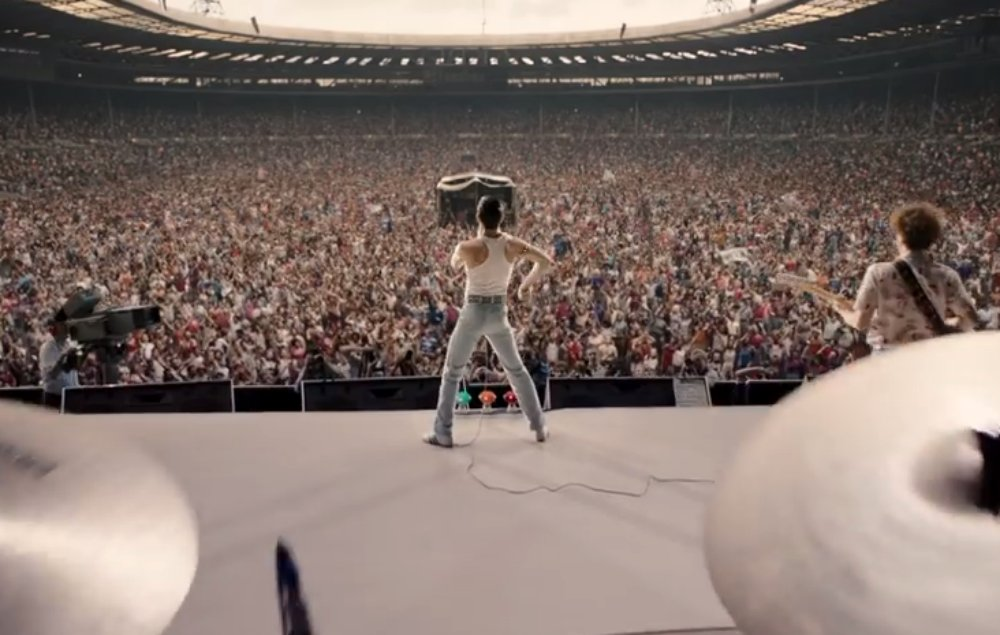 Here's the first footage from Queen's 'Bohemian Rhapsody' biopic https://t.co/OcdV1Kml8m https://t.co/DjA6F4DkJa