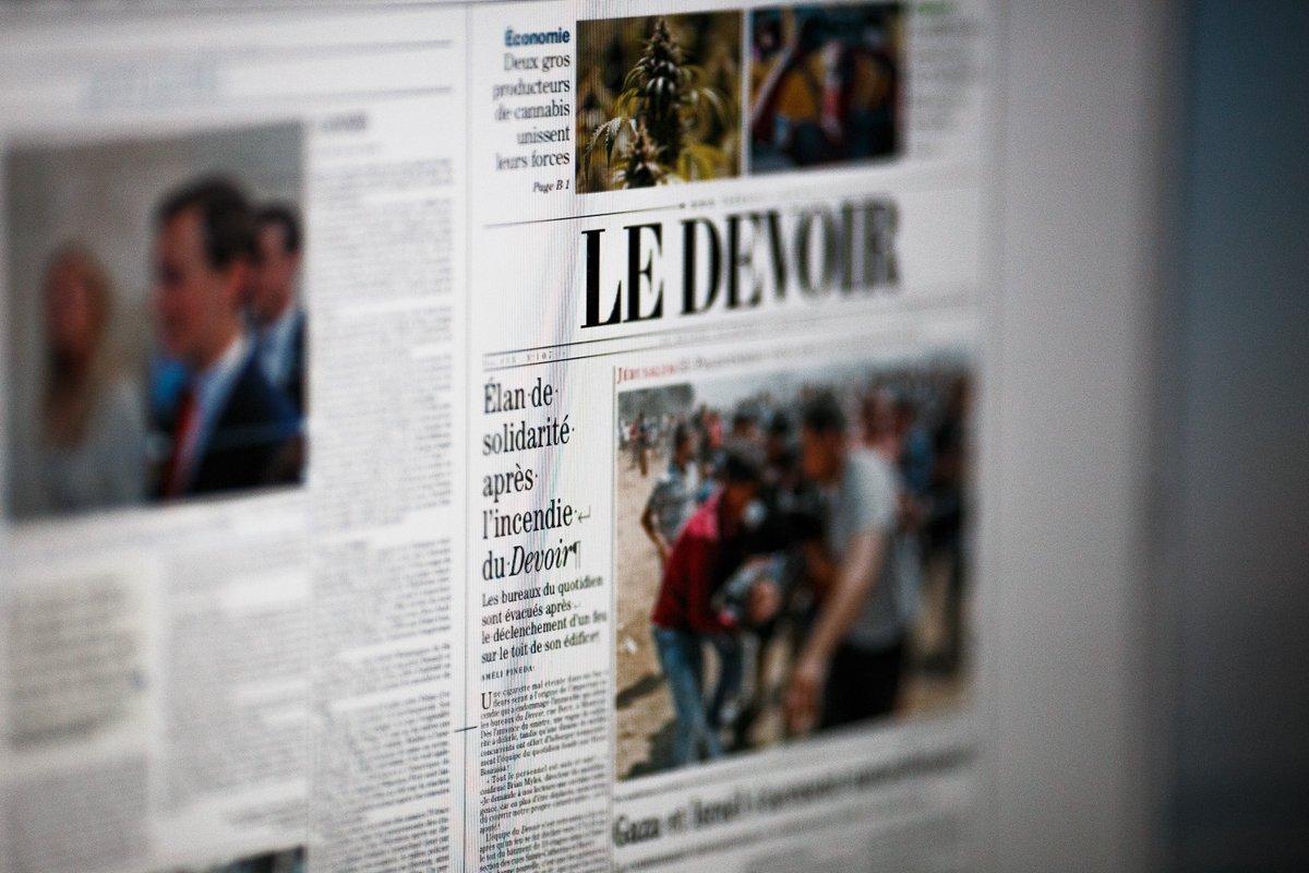 On l'a fait ! Le journal est parti aux presses, malgré un incendie dans notre édifice. #petitmiracle #equipedefeu (sans mauvais jeu de mots)