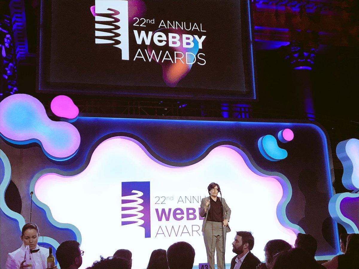 """Fowler did everyone in tech a service by [...] making pigs look like pigs."" @karaswisher #Webbys"