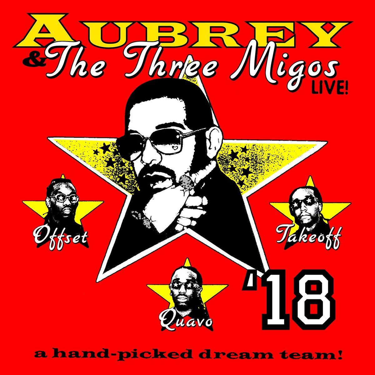 Aubrey & The Three Amigos Tour @Drake x @Migos presale starts tomorrow! drakeofficial.com/tour-dates.html