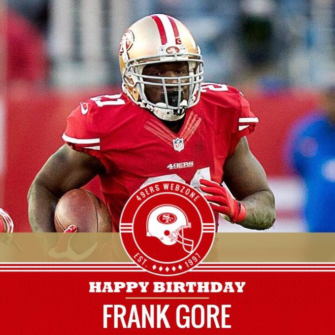 Happy birthday to the all-time rushing leader, Frank Gore!