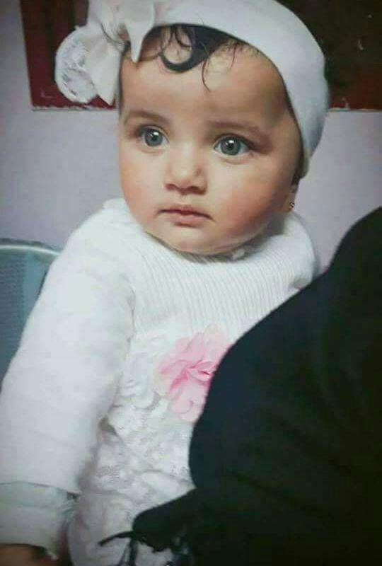 Antara 58 pejuang Palestin yg syahid dalam pertempuran semalam #GreatReturnMarch salah satunya adalah bayi kecil ini. Laila al-Ghandour, 8 bulan meninggal dunia  sesak nafas akibat serangan gas pemedih mata berkelajuan tinggi.  Al-Fatihah duhai sayang.  #AmanPalestin  #Nakbah70