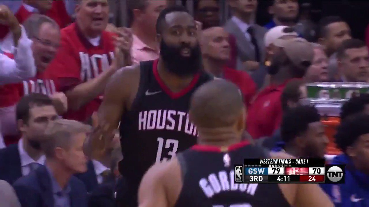 Despite coming up short, @JHarden13 put up a game-high 41 PTS to lead the @HoustonRockets ��  #NBAPlayoffs | #Rockets https://t.co/kPsWuYzOhl