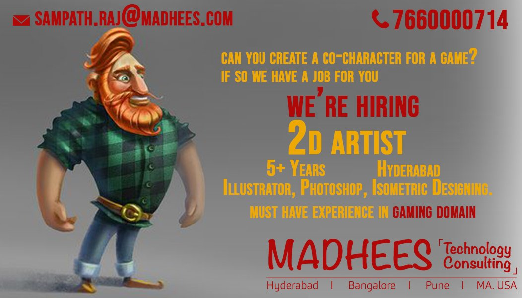 can you #Design a character in 2D if yes we are looking a person like you? we are hiring 2d Designers.<br>http://pic.twitter.com/8wIUJ5qsz0