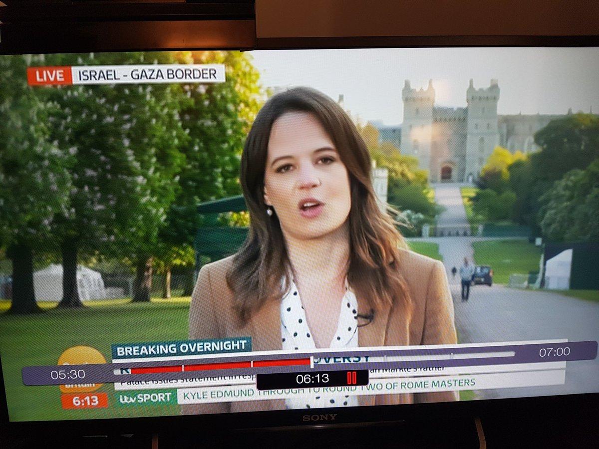 This a change of venue for the royal wedding?! #GMB #RoyalWedding2018