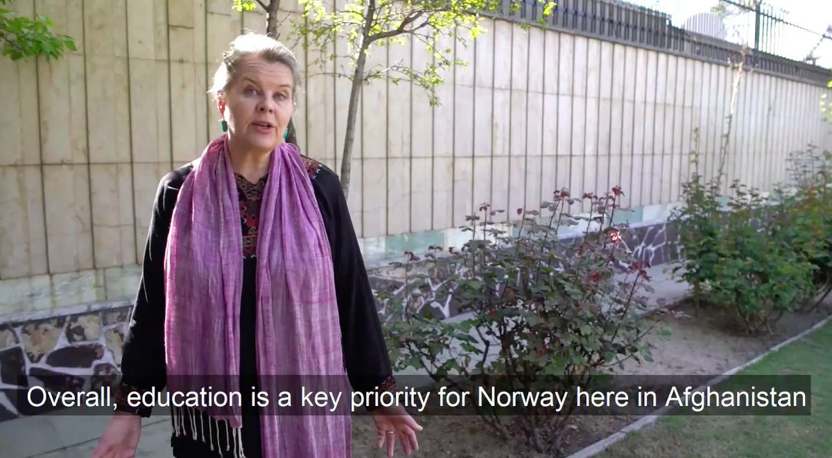 If we do not allow girls to educate themselves and to develop their potential, how will it go for our societies?, H.E. Ambassador @MariSkaare on a recent visit to #Jalalabad. Watch 🎥👉 bit.ly/2rI4rn9   #foreverychild, education 💙  @UNICEFNorge @NorwayinAfgh