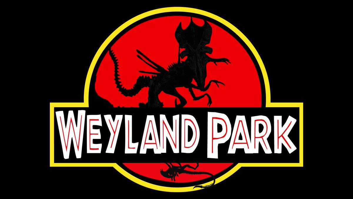 Welcome... to Weyland Park: Building better Xenomorphs.  Art by Dario Barbani.   #JurassicPark  #Alien #Aliens #WeylandYutani #Mashup<br>http://pic.twitter.com/ow9xuKCrcn