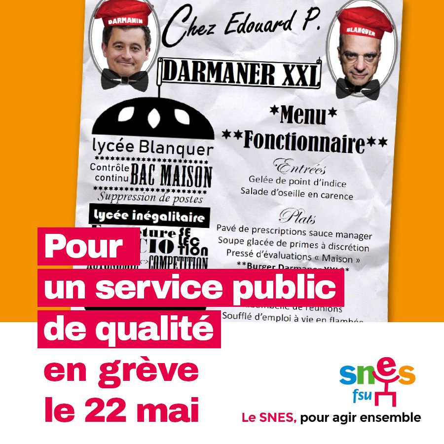 Grève unitaire (9/9 fédérations syndicales) de la Fonction Publique le 22 mai - Page 3 DdOMzxNXkAA5jhS