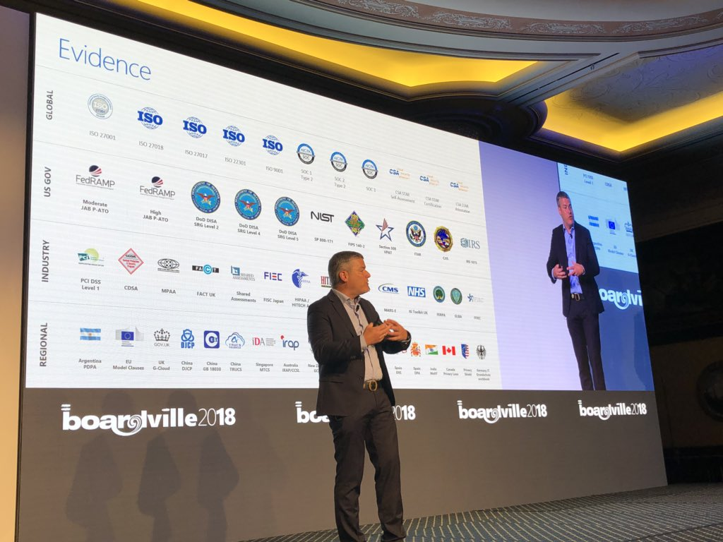 RT @BOARDSoftware: If you host #BOARD in the Microsoft #Cloud, you can be assured your information is secure thanks to over 50 #security accreditations. @microsoft_ch #BOARDVille2018 <br>http://pic.twitter.com/UHDMoHVPPV