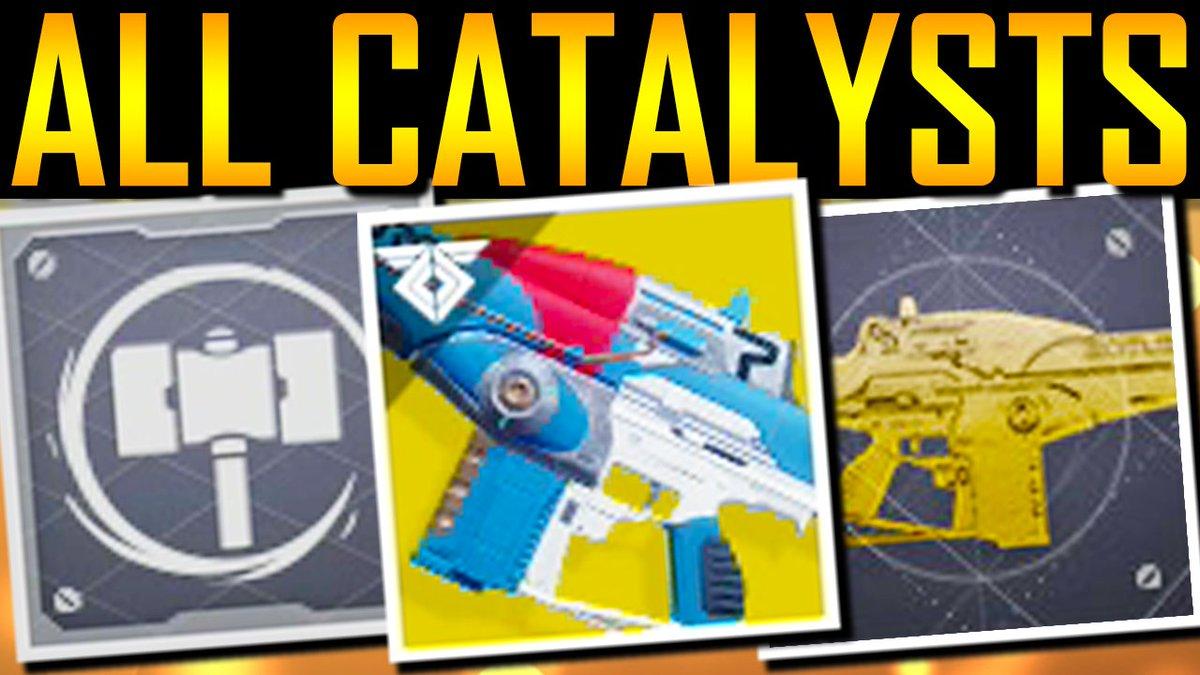 Destiny 2 - ALL EXOTIC CATALYSTS! SECRET PERKS! https