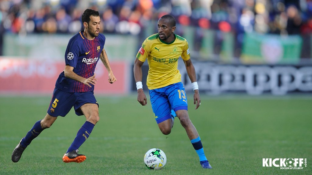 ... can Tiyani Mabunda boss the Barcelona midfield or will Sergio Busquets  prove to be too much of a dictator against Mamelodi Sundowns this Wednesday  286c7967822
