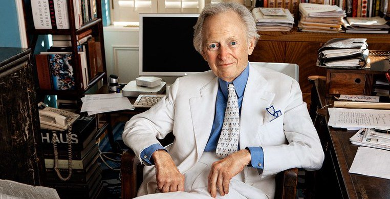 #DailyNews: Journalist and novelist Tom Wolfe died yesterday at age 87. Known for pioneering the growth of New Journalism, Wolfe published several books, including The Bonfire of the Vanities and The Right Stuff at.pw.org/2IGCS8g