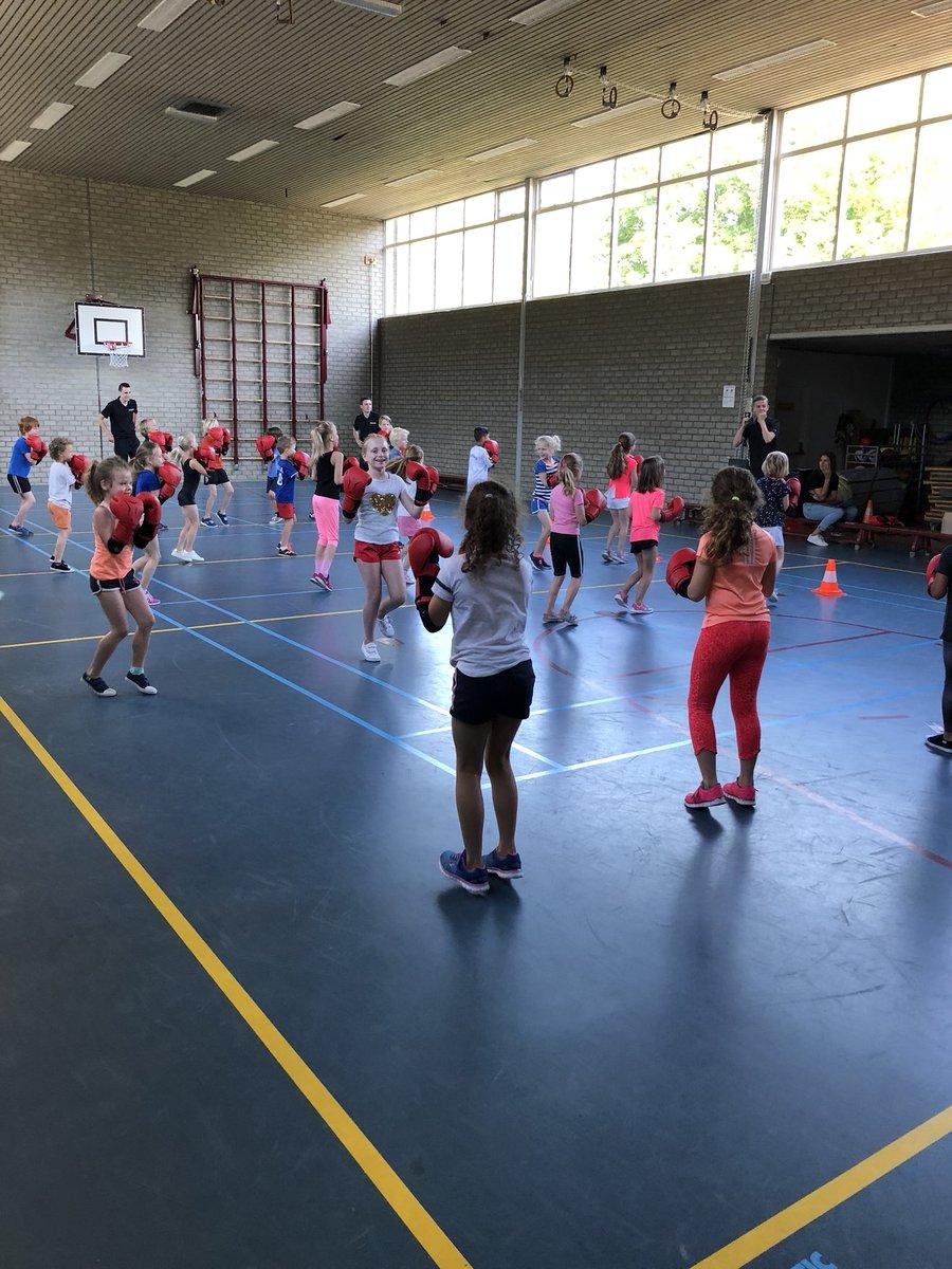 test Twitter Media - Wederom een leuke en leerzame clinic van Move voor de MB van @De_Lichtstraat in de gymzaal vanochtend. Kickboksen stond op her programma. https://t.co/t7RKR0CNBV