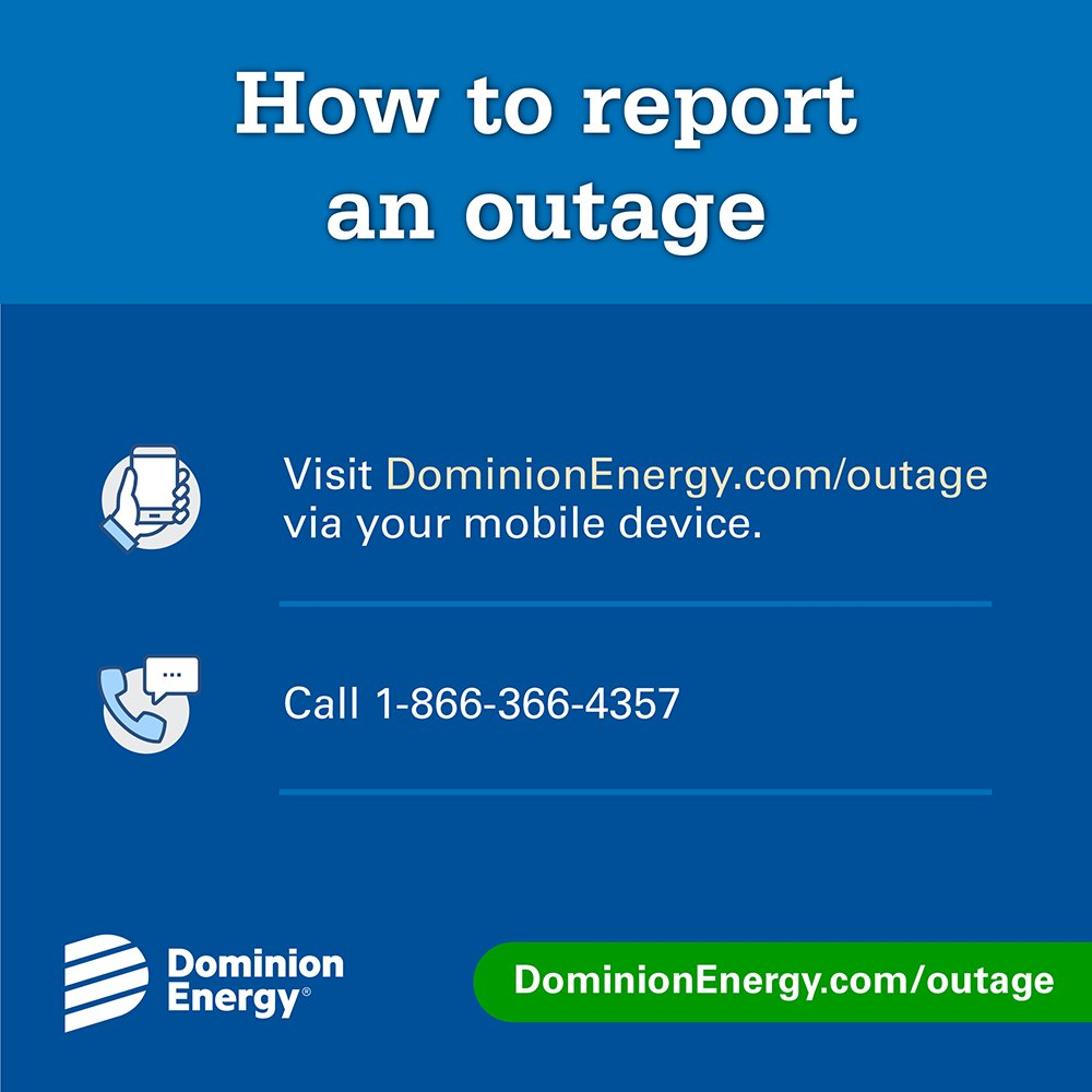 Dominion Energy Va On Twitter If Your Power Is Out Be Sure To