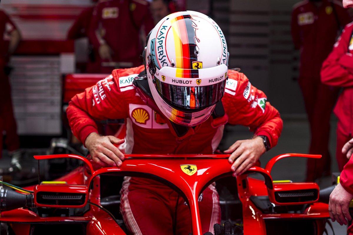 Vettel sulle gomme Pirelli: