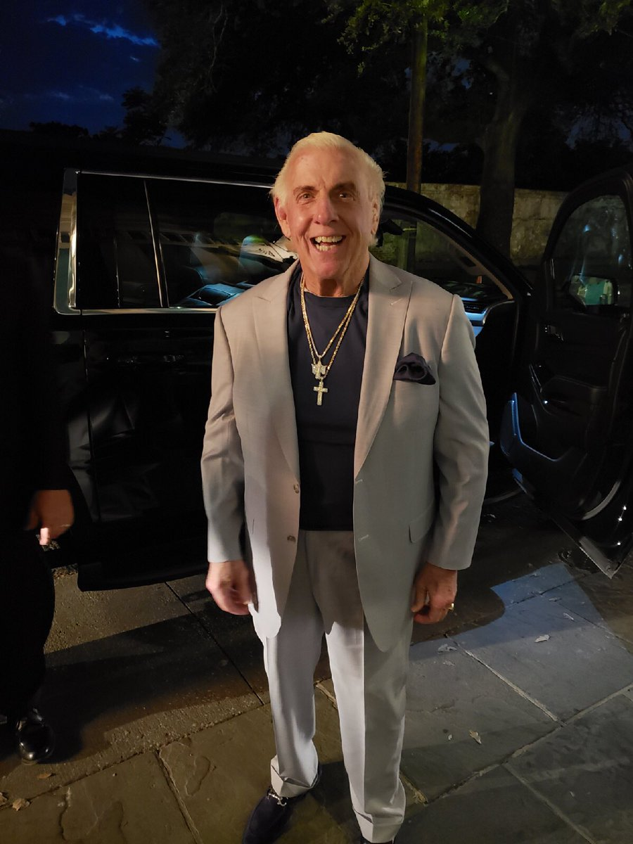 To Be The Man, You Gotta Dress Like The Man! Stylin' In My Exclusive Ric Flair Collection by Mr. Custom Made! Check Out All The Styles At mrcustommade.com/ric-flair/