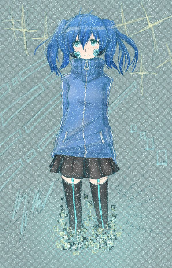 #青髪至高倶楽部 青色って藍色も一応入るよね?