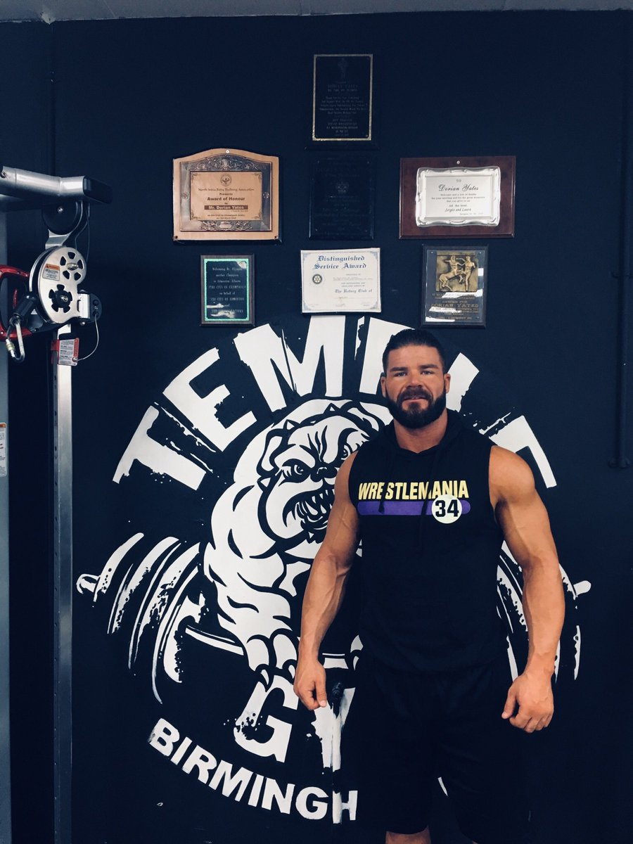 An Absolutely Glorious and much needed workout today in Birmingham thanks to @Dorian_Yates and his @templegymuk . Very cool gym and great staff.... thank you!!