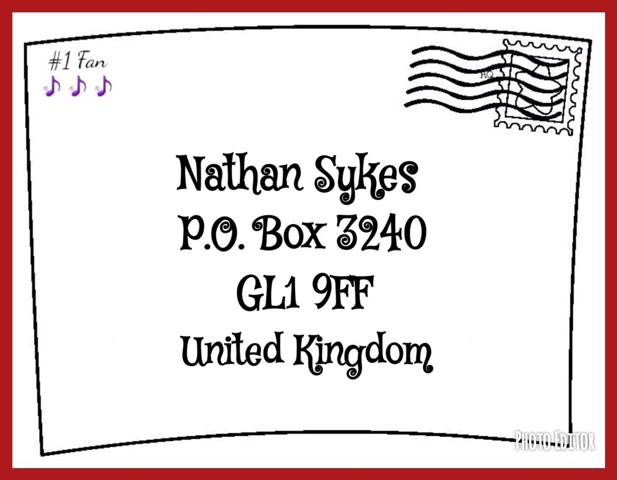 Sometimes 280 characters just wont do...send your letters, pictures & anything else you wish @NathanSykes to see to his NEW fan mail address!📫