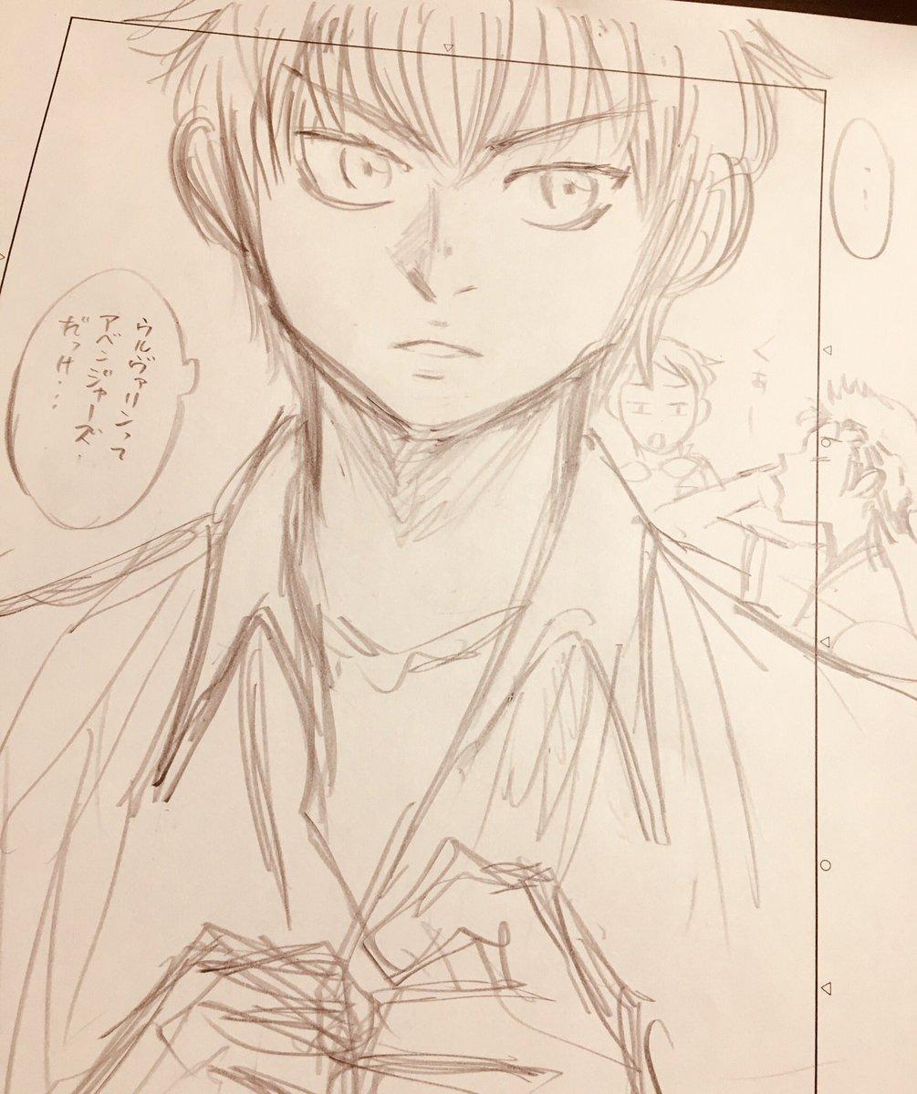 ネタに困って普段描かない顔描いてみたよ。  沢村さん誕生日おめっとさんです(寺)