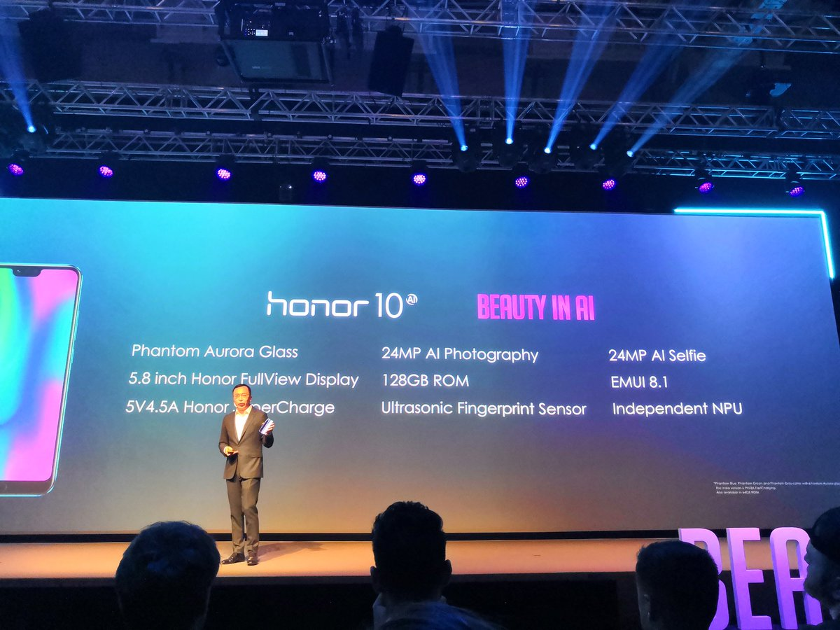 Here are the #Honor10 specs, and the very competitive price! Orders from today at 4pm.