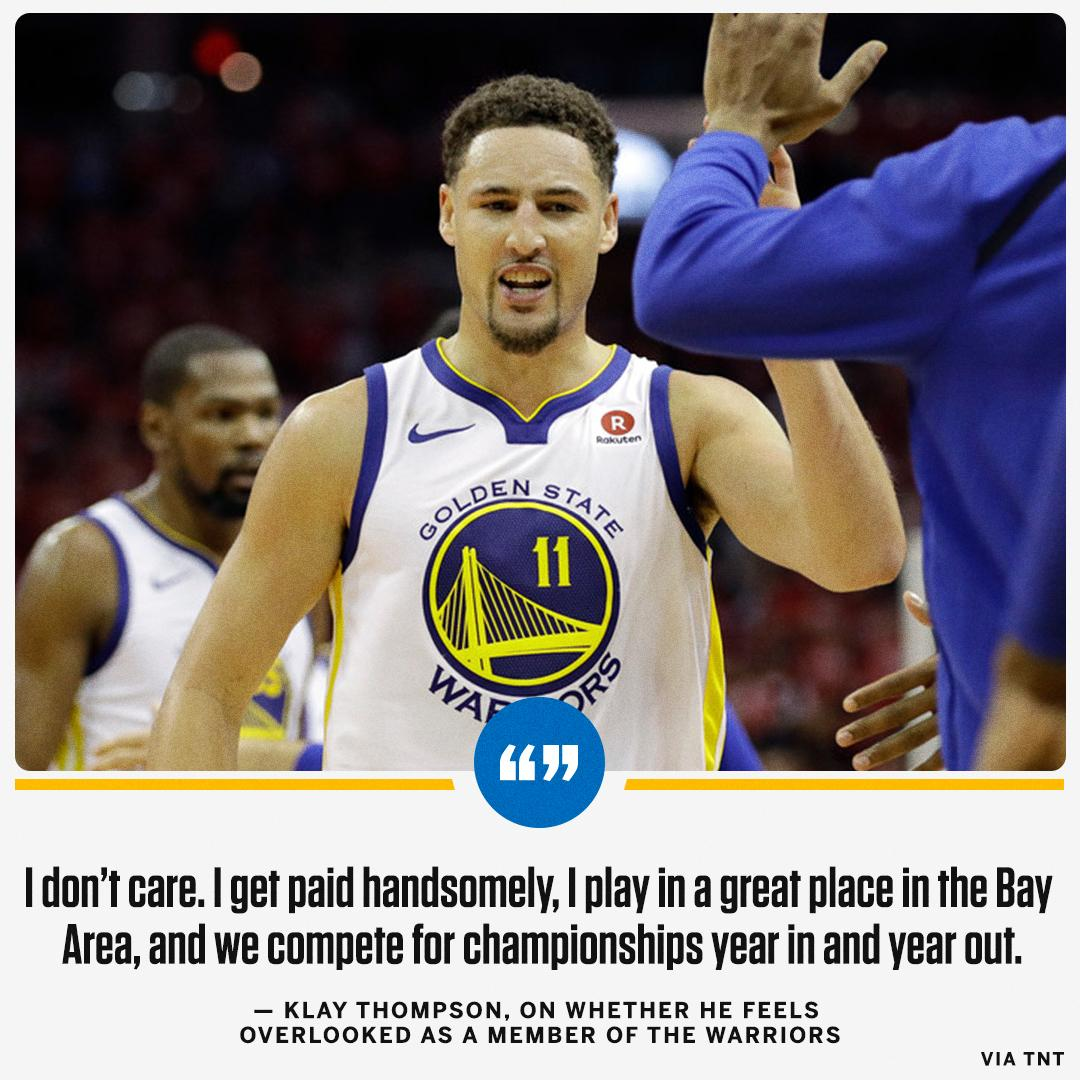 Klay Thompson is pretty cool with this whole Warriors thing. https://t.co/0uZW881R8V