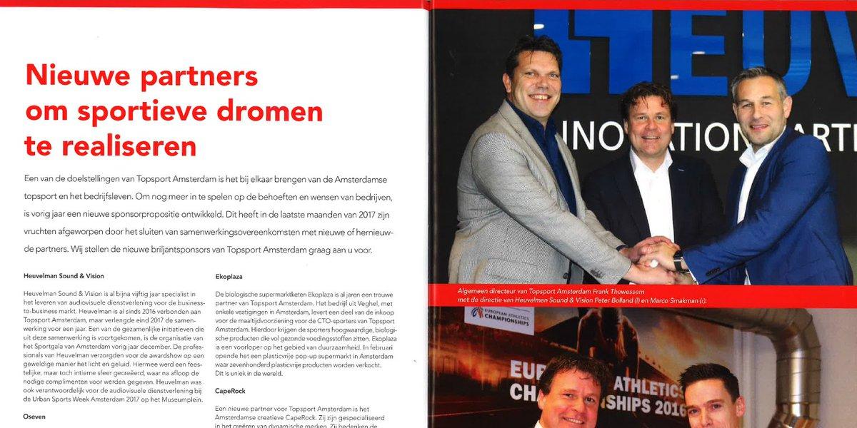 Onze directie #schittert in de nieuwe editie van het #TopsportAmsterdam magazine! Wij zijn blij met deze mooie #samenwerking #partnership