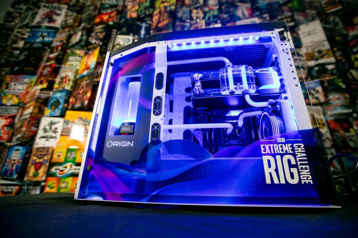 Retweet this for a chance to win ONE of FIVE $10,000 Gaming Rigs!   #IntelRigChallenge @ORIGINPC  Stay tuned for our Extreme Rig Reveal & Overview Video coming soon! https://t.co/ib4Oqt8nmc
