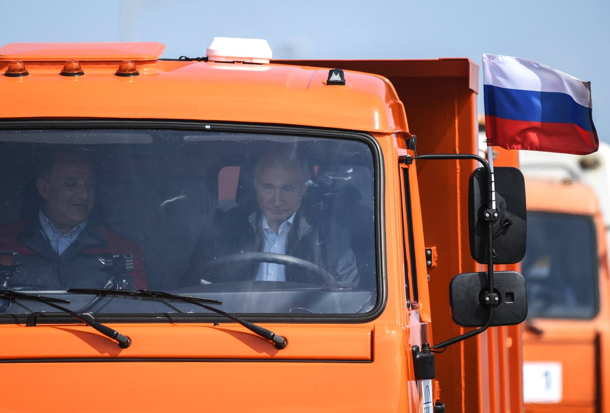 Vladimir Putin attended the opening of the motorway section of the Crimean Bridge bit.ly/2k10iXU