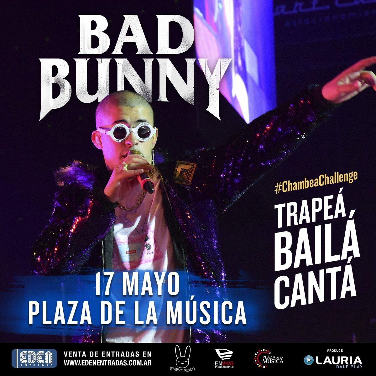 ¡#ChambeaChallenge con @badbunnyPR ! 👊 Este jueves podés ser parte de #LaNuevaReligión 👊 @envivonet y @LauriaProd quieren que estés ahí!  🎬 Subí un video y contanos por qué los tickets tienen que ser tuyos! #Trapeá #Cantá #Bailá , ¡El más creativo se los lleva!