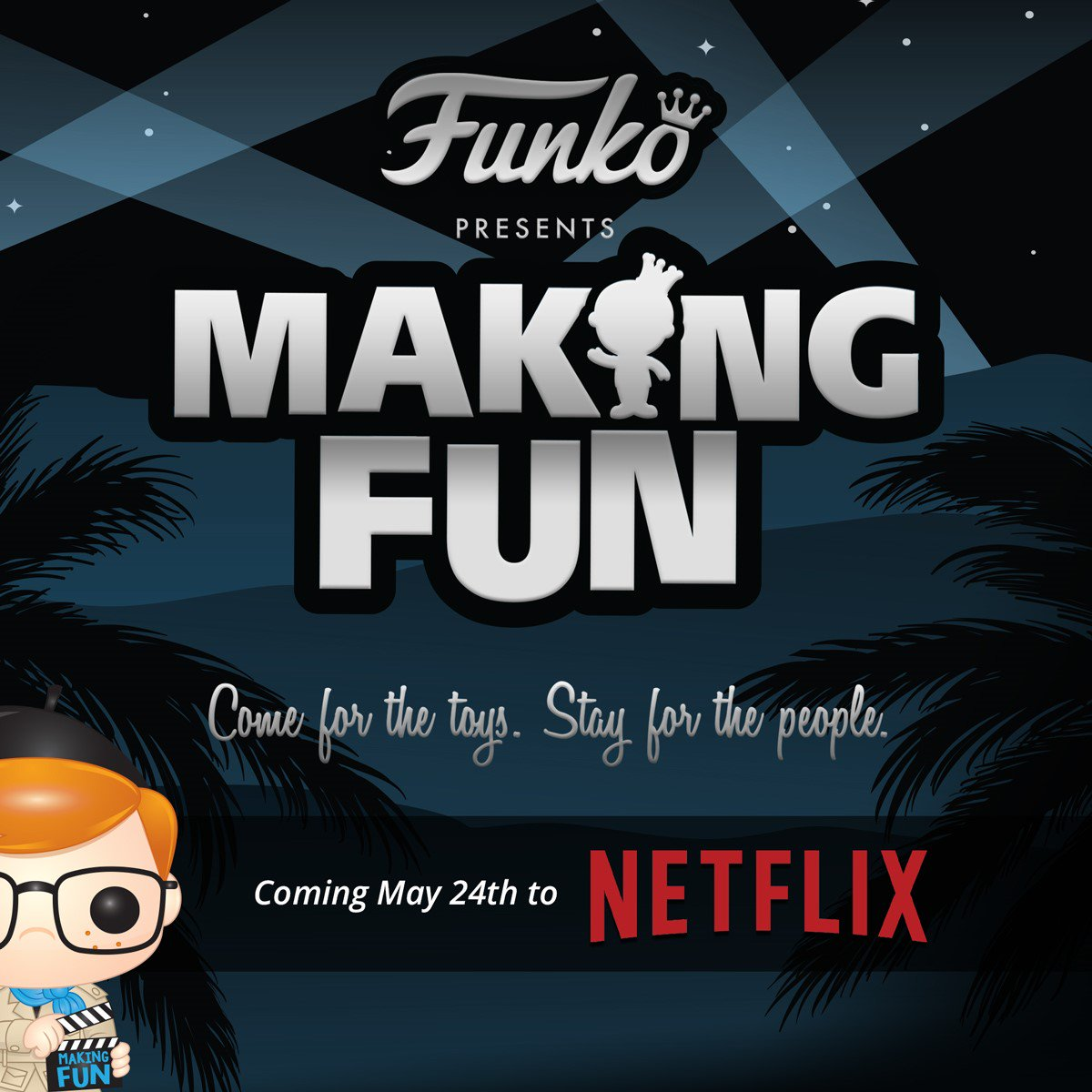 ICYMI - Making Fun - The Story of Funko will be available on Netflix starting May 24th! funko.com/blog/article/e…