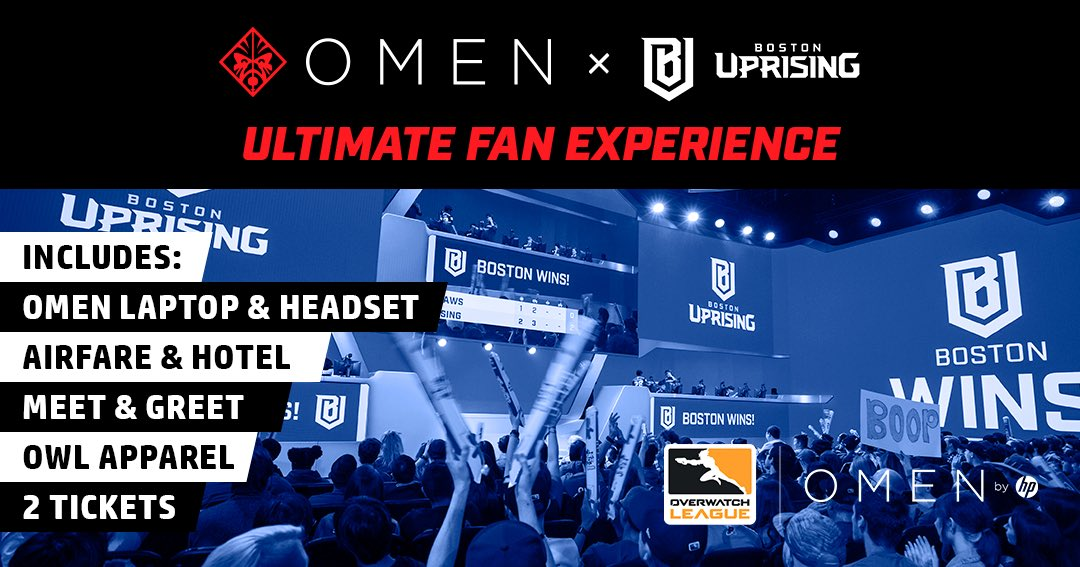 Boston uprising on twitter the ultimate bostonup fan experience greet with the squad an omen laptop headset httpsgleamtfvw9omen by hp x boston uprising ultimate fan experience picitteriiqsq2rkqn m4hsunfo