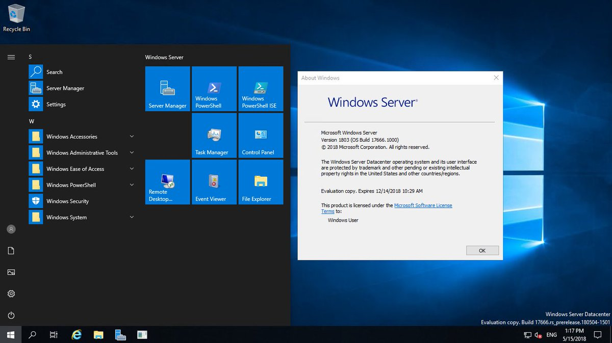 windows server 1803