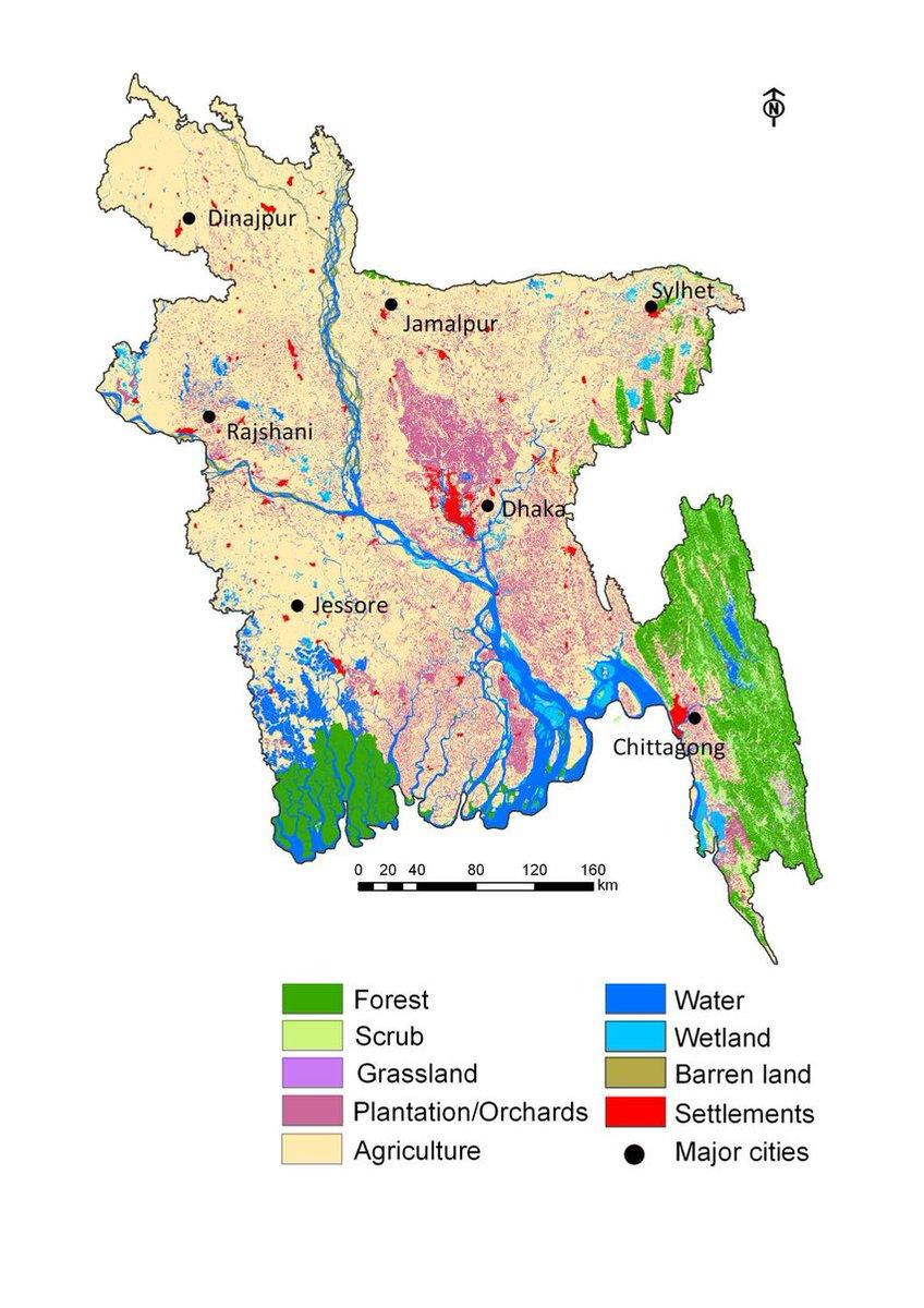 LMaps On Twitter Land Cover Map Of Bangladesh 2014