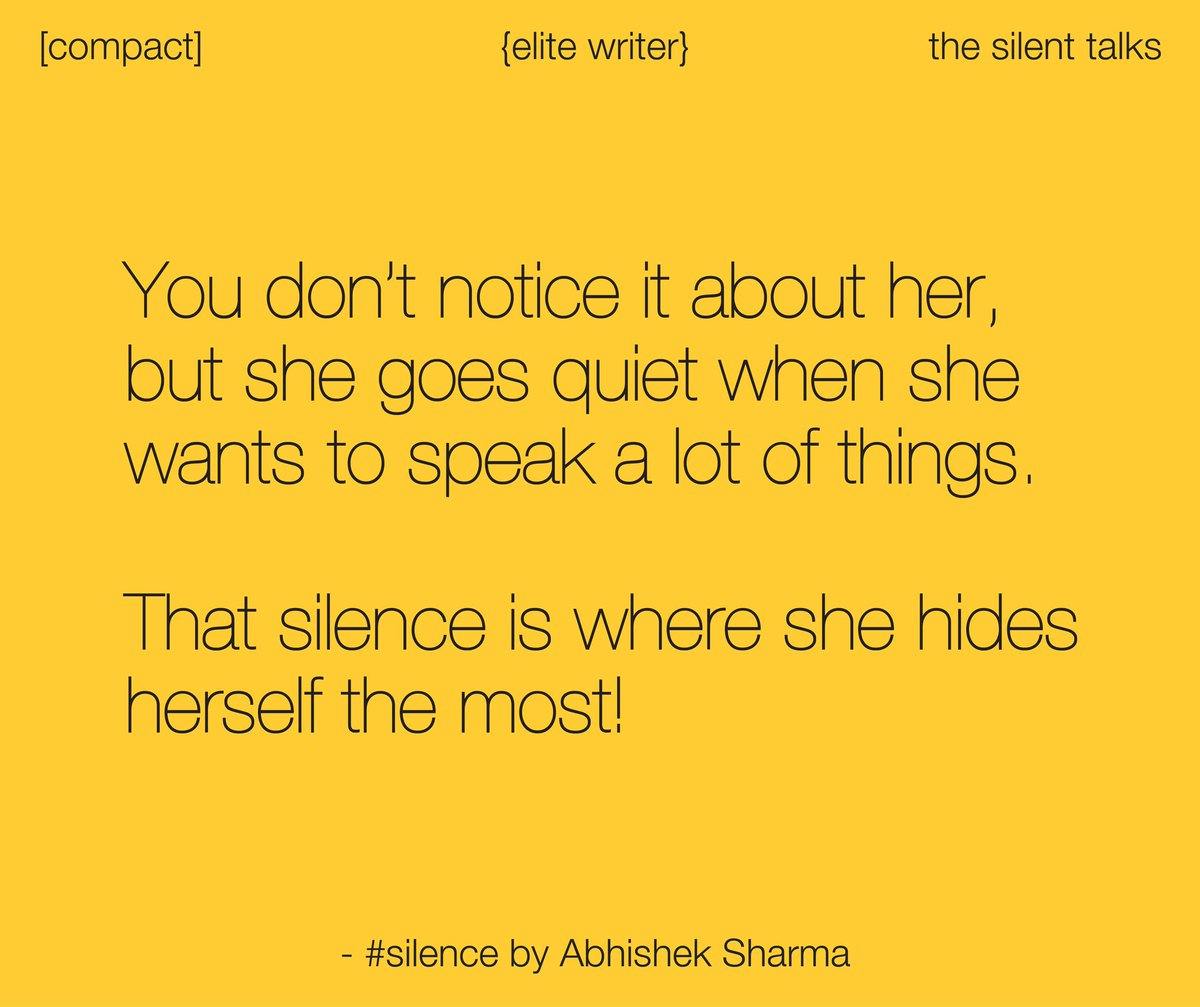 Goes silent when a woman When A