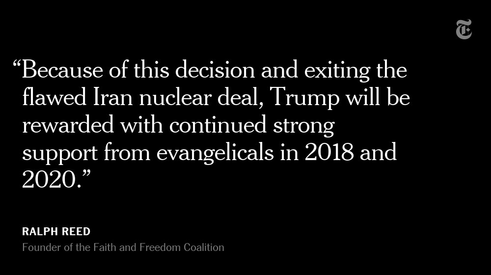 The opening of the American Embassy in Jerusalem is a victory for Trump's evangelical base https://t.co/XOyfcH4Fc9 https://t.co/ErnpfOz75O